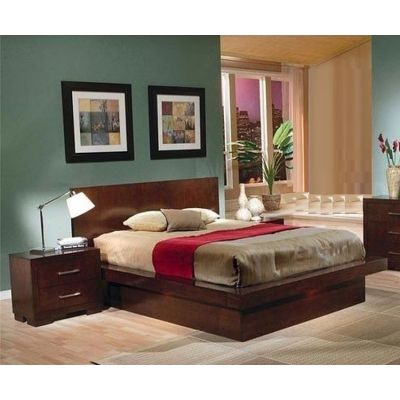 Jessica 2 Piece Queen Bedroom set in Cappucino - 001581_Kit
