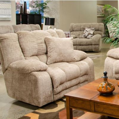 Branson Lay Flat Recliner With Extended Ottoman in Camel - 620007270536