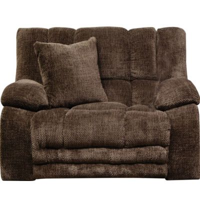 Branson Lay Flat Recliner With Extended Ottoman in Chocolate - 620007270509