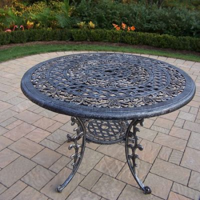 Mississippi Cast Aluminum 42-Inch Round Dining Table - 2011-AP