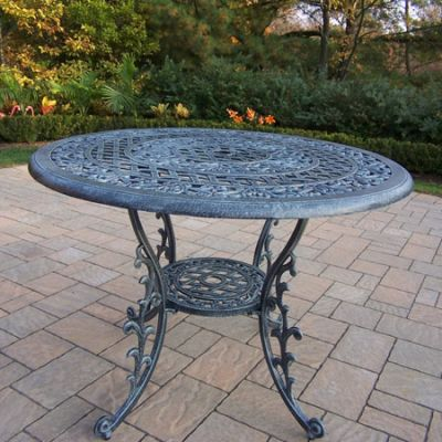 Mississippi Cast Aluminum 42-Inch Round Dining Table - 2011-VG