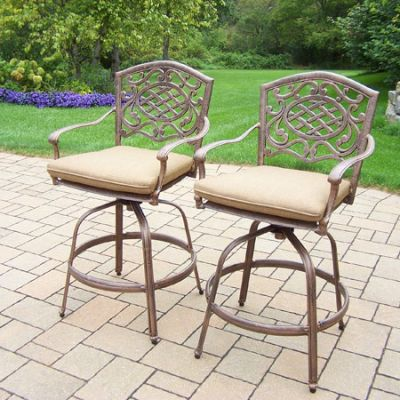 Mississippi Outdoor Swivel Bar Stool (2-Set) - 2019BS2-D56-4-AB