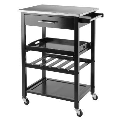 Anthony Kitchen Cart in Stainless Steel - 20326