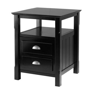 Timber Nightstand in Black Finish - 20920