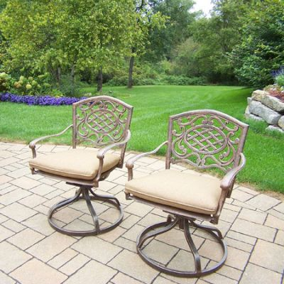 Mississippi Pair Swivel Rockers With Cushions (Set 2) - 2104S2-D56-4-AB