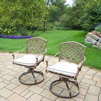 Mississippi Pair Swivel Rockers With Cushions (Set 2) - 2104S2-OM-4-AB