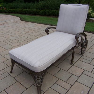 Mississippi  Chaise Lounge On Wheels With Double Cushions - 2108-2-AB