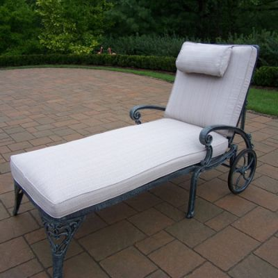Mississippi  Chaise Lounge On Wheels With Double Cushion - 2108-2-VGY