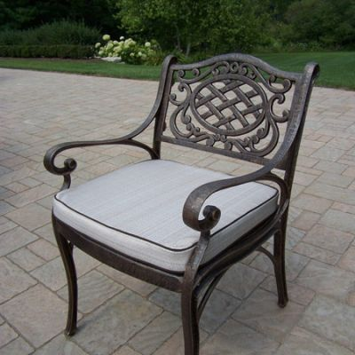 Mississippi Cast Aluminum Arm Chair With Cushion - 2109-2-AB