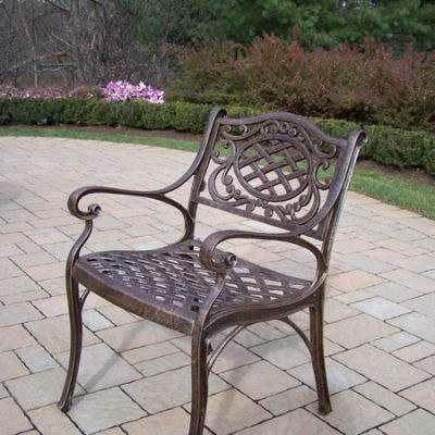 Mississippi Arm Chair in Antique Bronze - 2109-AB