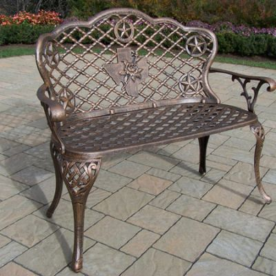 Texas Cast Aluminum Rose Loveseat - 2206-AB