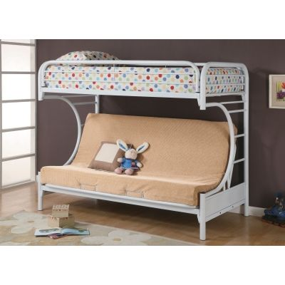 Fordham Collection Youth Bunk Bed in White - 2253W