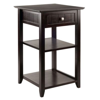 Burke Printer Stand Coffee Finish - 23121