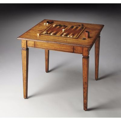Gemelina Wood Grain Chess/Backgammon Game Table - 2364120