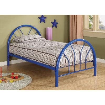 Fordham Youth Twin Bed in Blue - 2389N