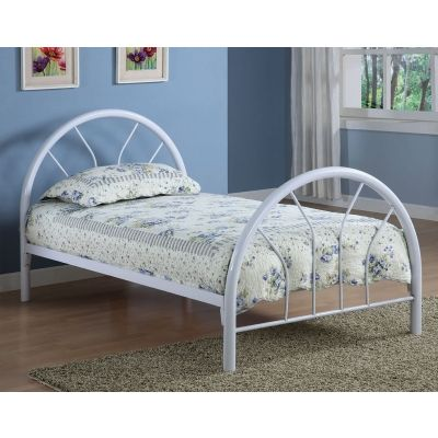 Fordham Youth Twin Bed in White - 2389W