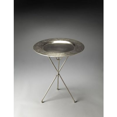 Dahlia Folding Metal Accent Table - 2557025