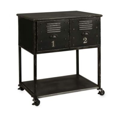 2-Drawer Rolling Cart Table - 27687