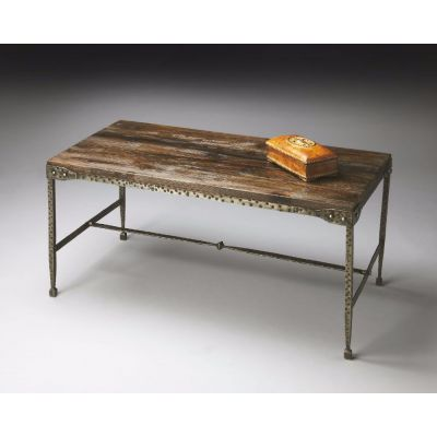 Mountain Lodge Gratton Iron & Wood Cocktail Table - 2884120