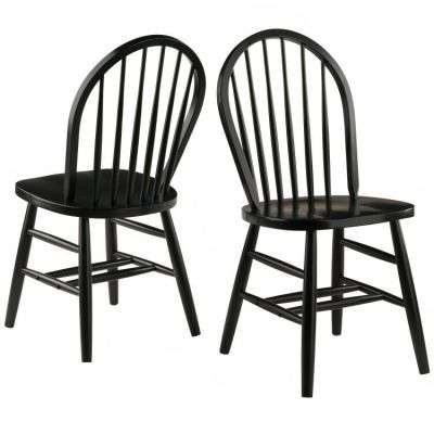 Windsor Dining Chair in Black (Set of 2) - 29836