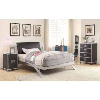 LeClair Bedroom Full Bed in Silver - 300200F