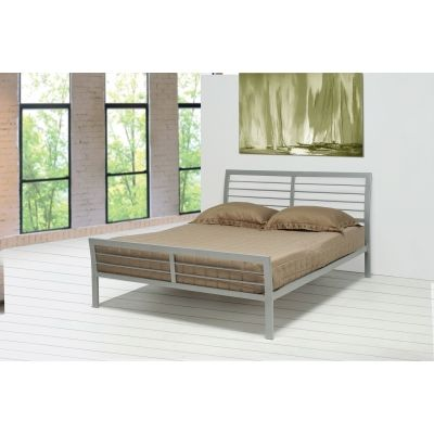 Mod Iron Queen Bed in Silver - 300201Q