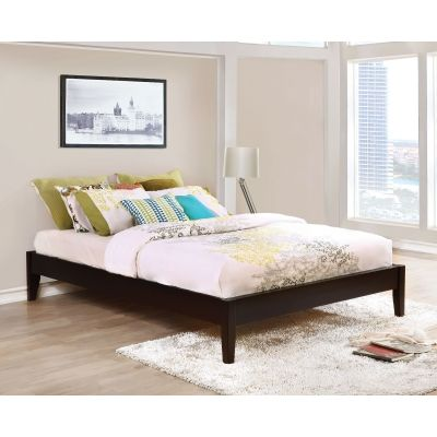 Hounslow Queen Platform Bed in Cappuccino Finish - 300555Q