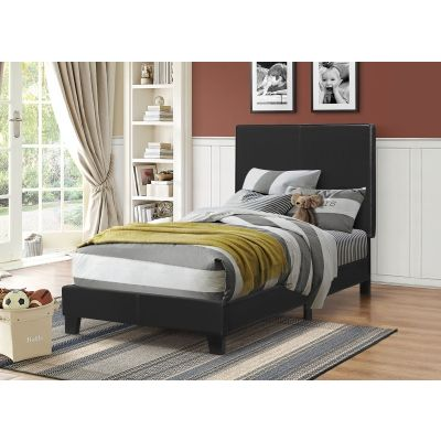 Mauve Twin Bed in Black - 300558T