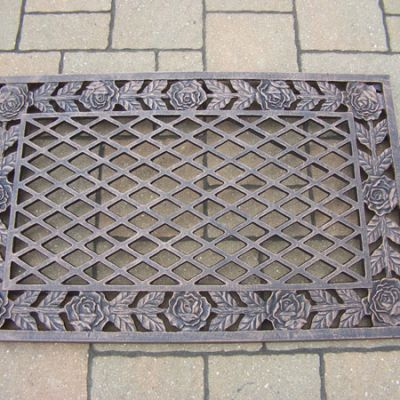 Tea Rose Cast Aluminum Doormat - 3017-AB