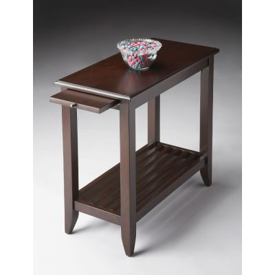 Irvine Merlot Chairside Table - 3025022