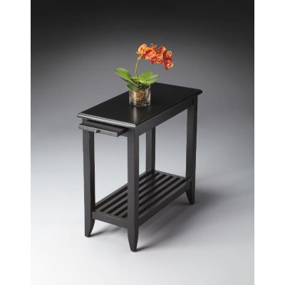 Irvine Black Licorice Chairside Table - 3025111