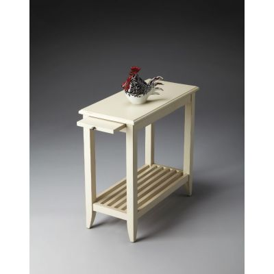 Irvine Cottage White Chairside Table - 3025222