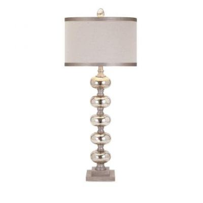Ginger Mercury Glass Lamp - 31428