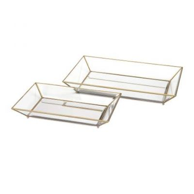 Maison Decorative Glass Trays - 31511-2