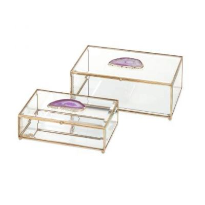 Maison Glass And Agate Boxes - 31514-2