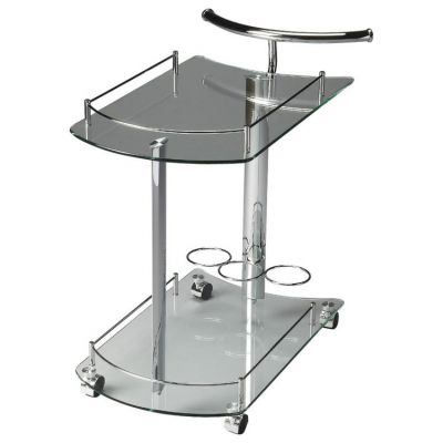Penelope Clear Glass Serving Cart - 3238306