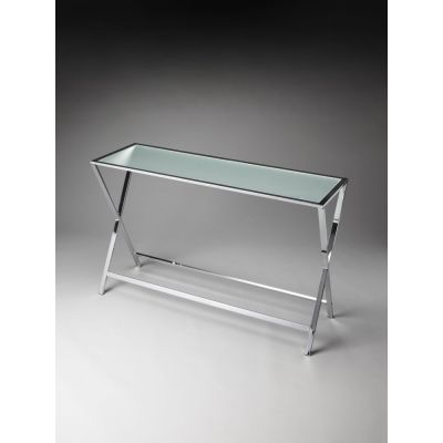 Bergen Frosted Glass Console Table - 3290307