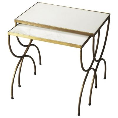 Bacchus Marble & Iron Nesting Tables - 3309025