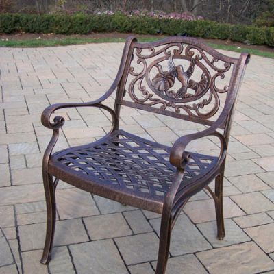 Hummingbird Cast Aluminum Arm Chair - 3312-AB
