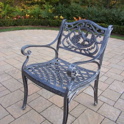 Hummingbird Cast Aluminum Arm Chair - 3312-AP