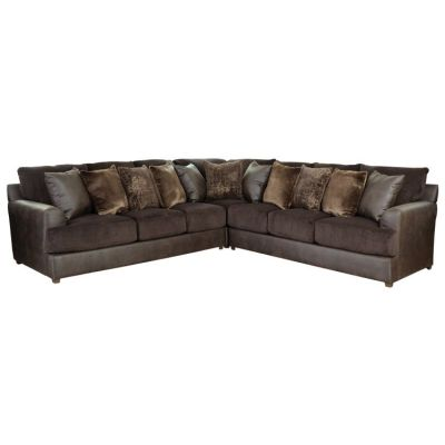Cortland Sectional in Espresso and Chocolate - 001650_Kit