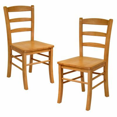 Hannah Dining Chair in Light Oak Finish (Set of 2) - 34232