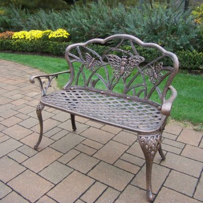 Butterfly Cast Aluminum Loveseat Bench - 3603-AB
