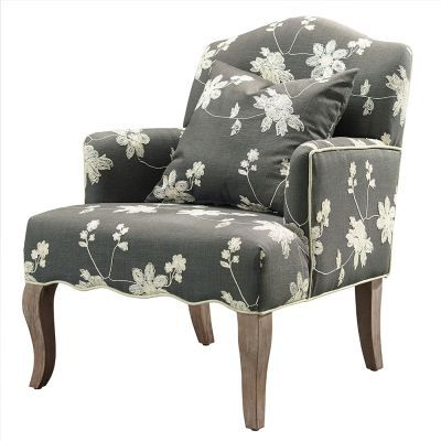 Floral Arm Chair in Gray - 368312GRY01U