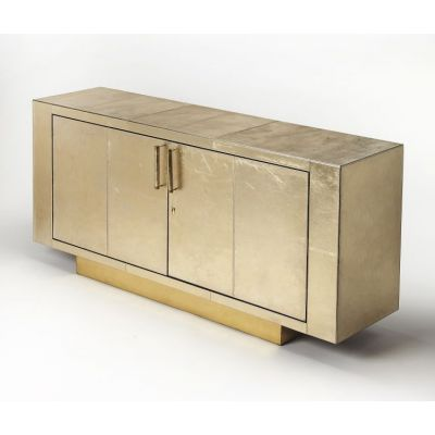 Francois Gold Leather Buffet - 3736350
