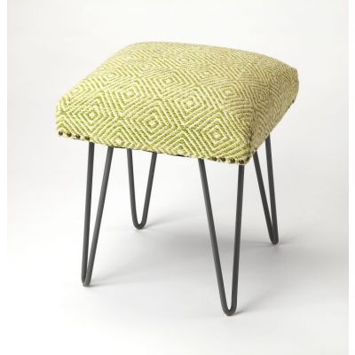 Channahon Green Upholstered Stool - 3799292