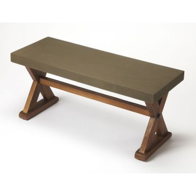 Portland Concrete & Wood Bench - 3838140