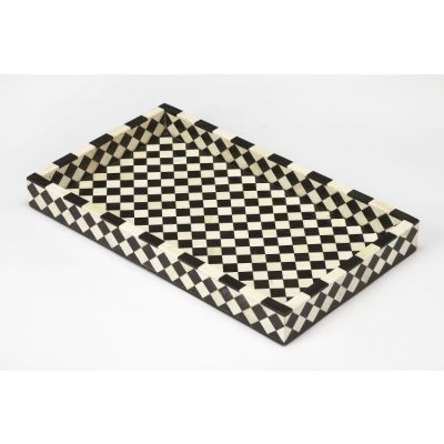 Vermeer Black Bone Inlay Serving Tray - 3865318