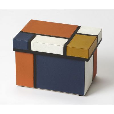 Mosaic Leather Storage Box - 3902016