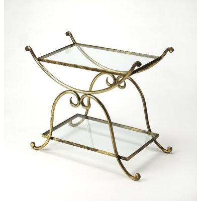 Desdemona Gold Serving Table - 3904025